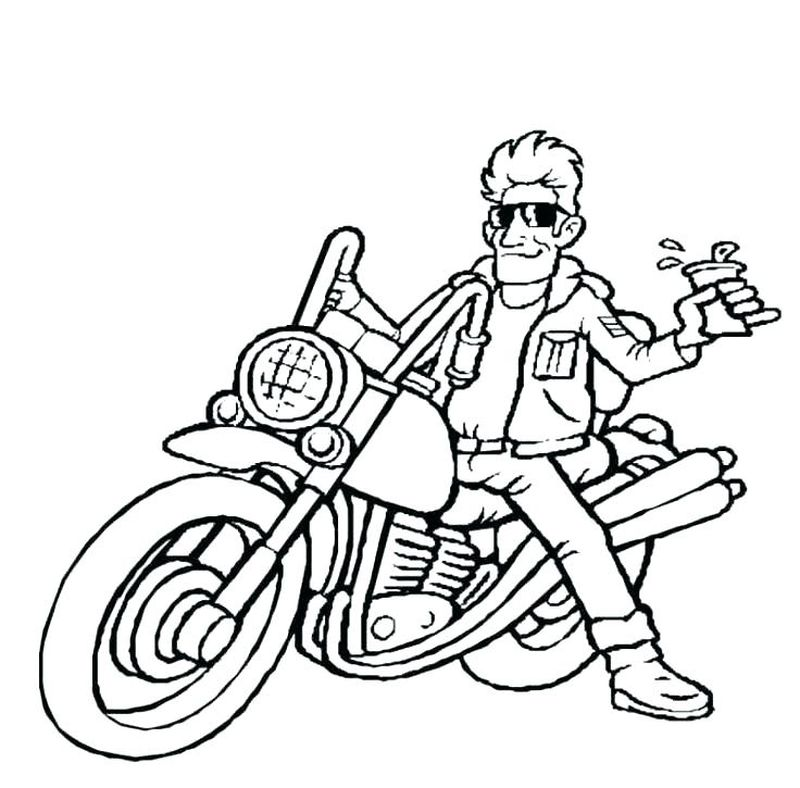 Downloadable Motorcycle Coloring Pages