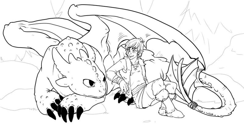 Dragon And Phoenix Coloring Page