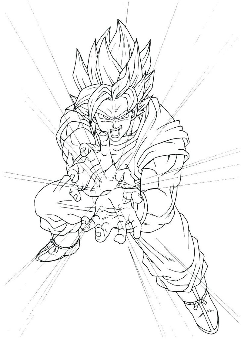 Dragon Ball Colouring Pages Free
