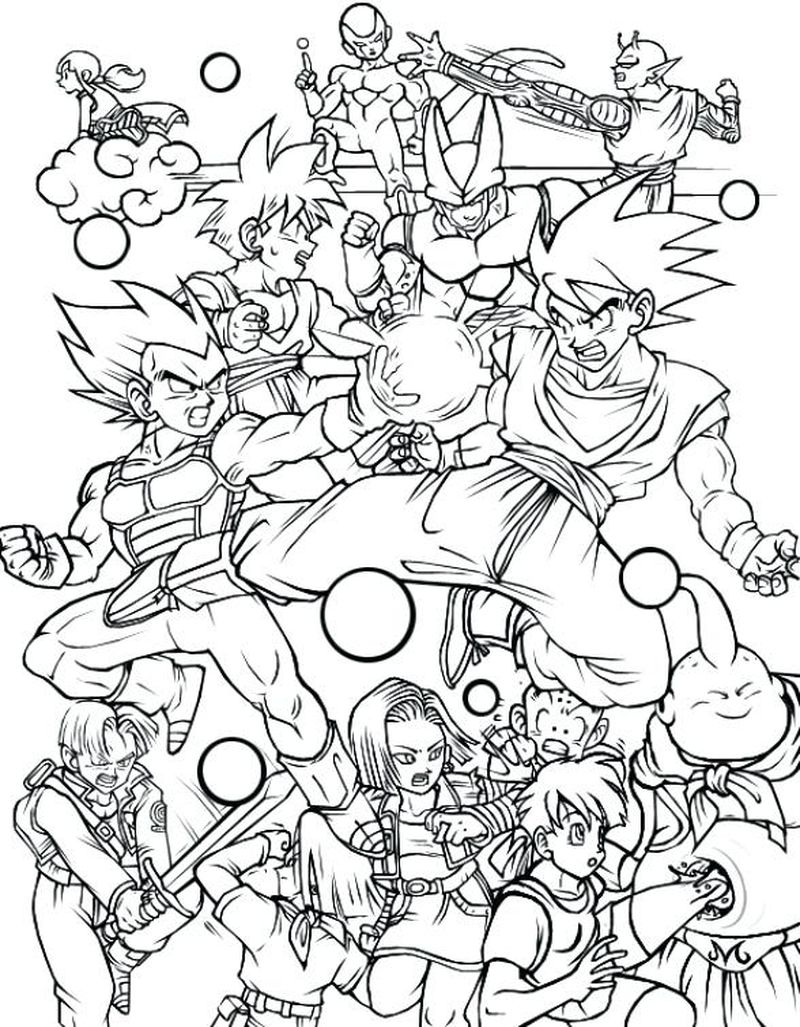 Dragon Ball Colouring Pages