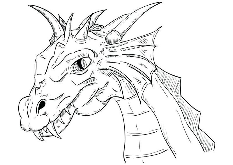 Dragon Coloring Page Free