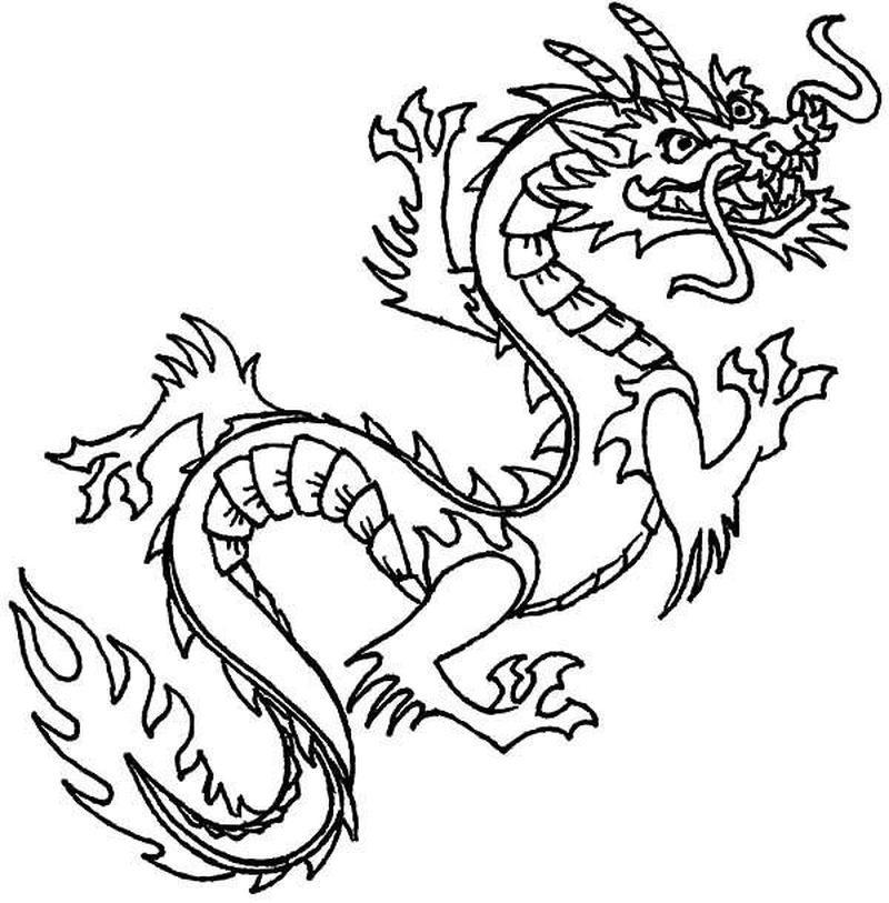 Dragon Coloring Pages For Adults Pdf