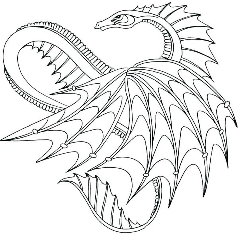 Dragon Coloring Pages To Print