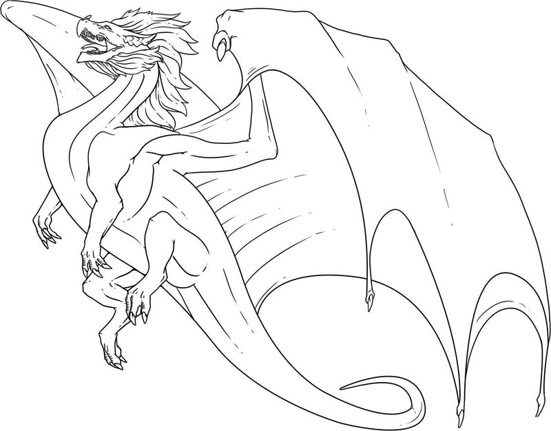 Dragon Colouring Pages For Adults