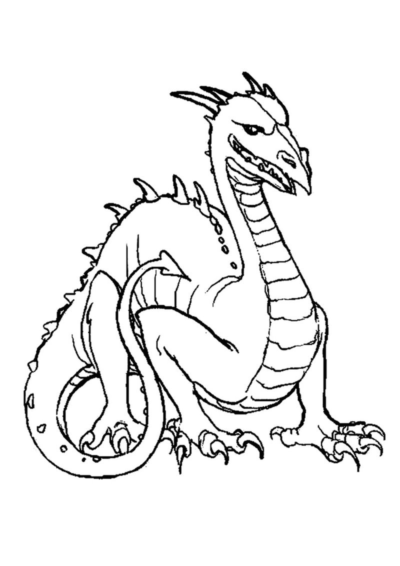 Dragon Tales Emmy Coloring Page
