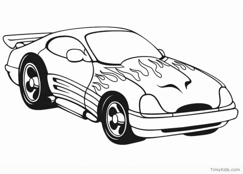 Dragster Car Coloring Pages