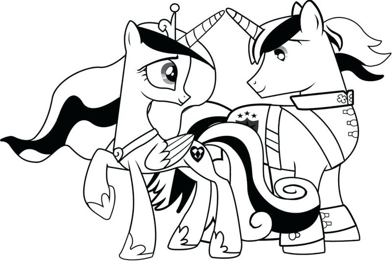 Draw My Little Pony Coloring Pages