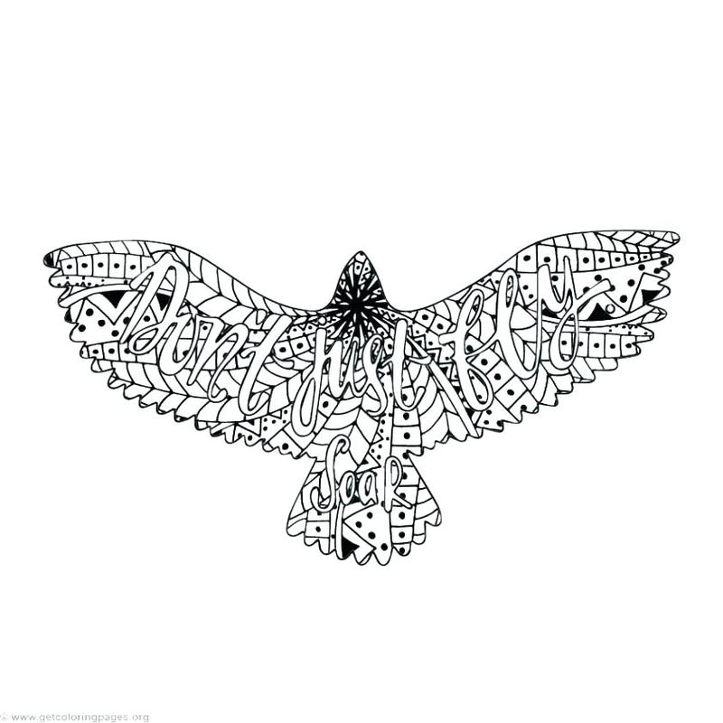 Eagle Feathers Coloring Pages