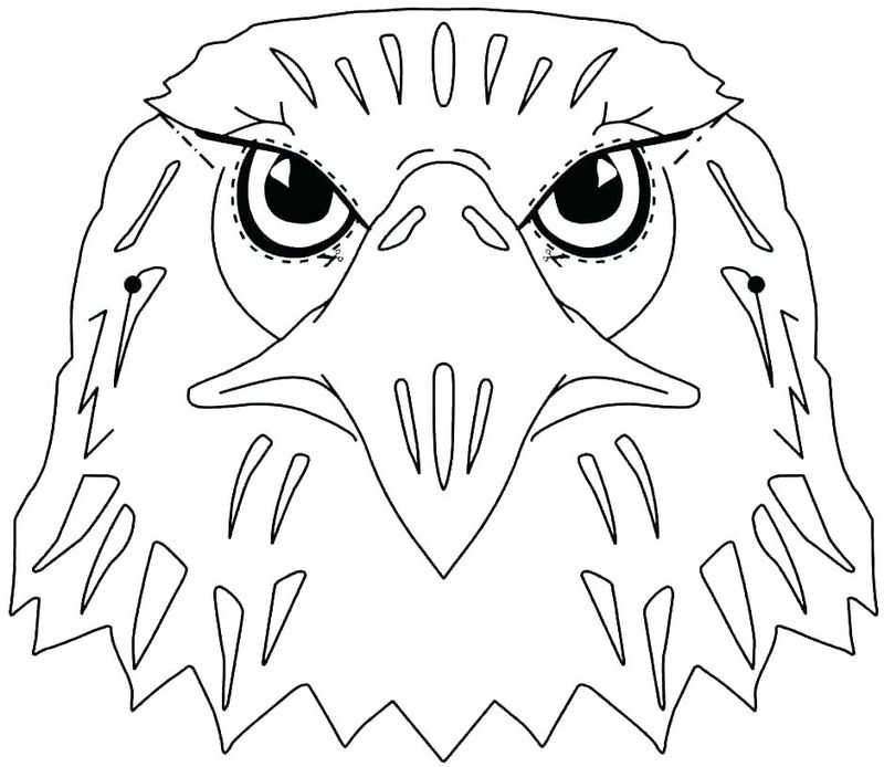 Eagle Mascot Coloring Pages