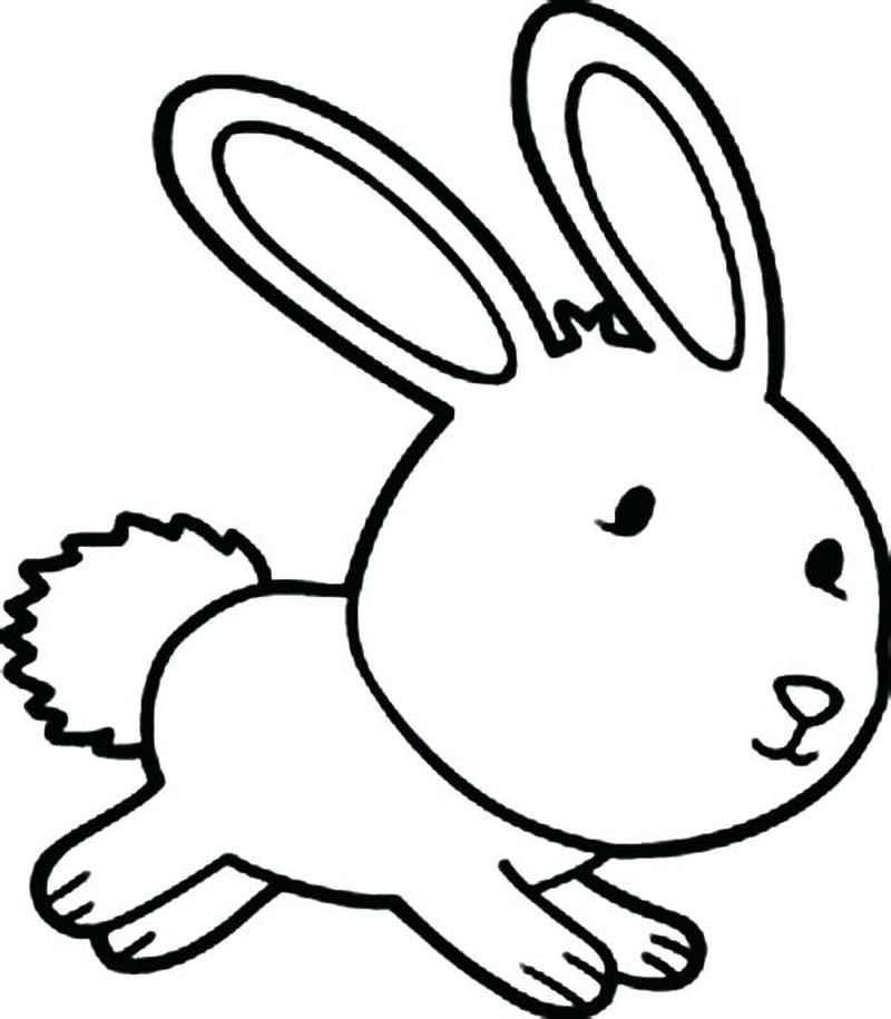 Easter Bunny And Basket Coloring Pages