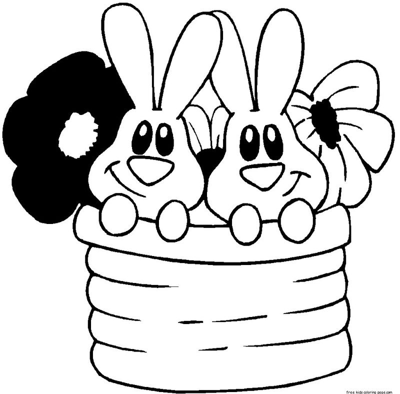 Easter Bunny Coloring Pages Easy
