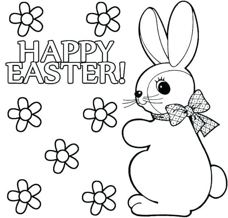 Easter Bunny Coloring Pages Online Free