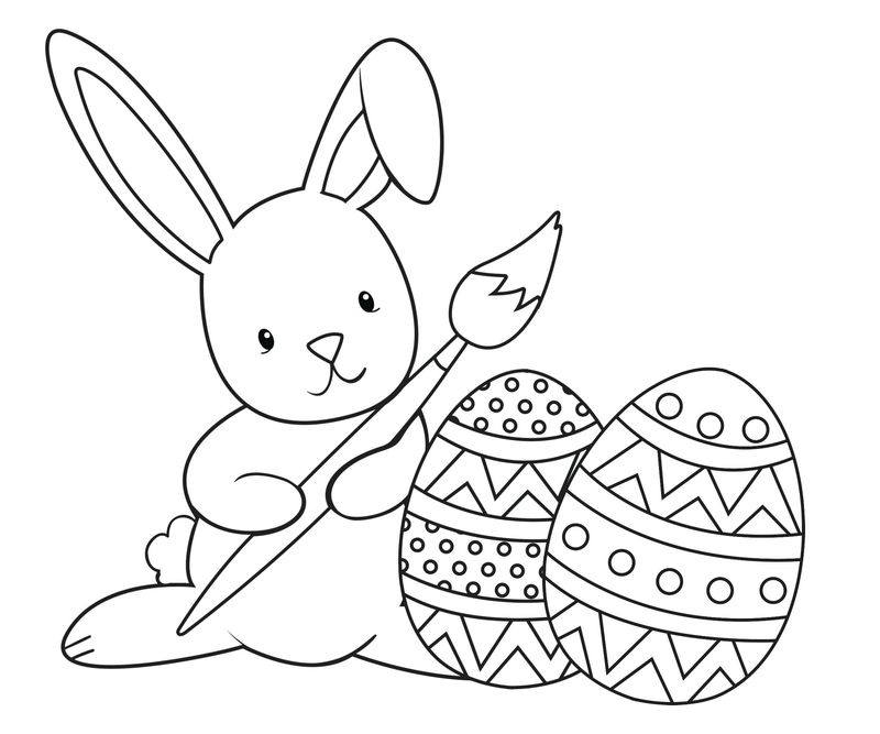Easter Bunny Coloring Pages Pdf