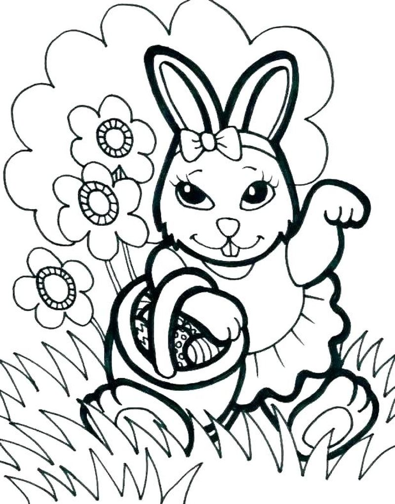 Easter Bunny Coloring Pages Pinterest