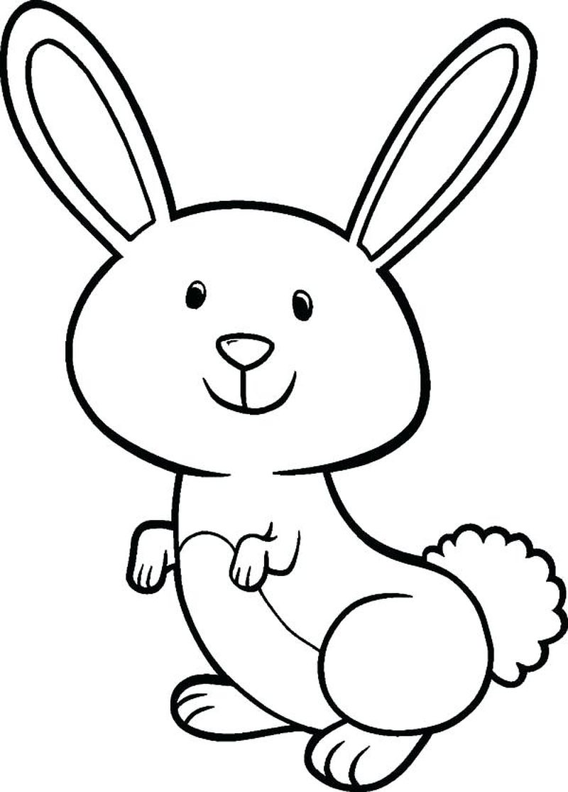 Easter Bunny Coloring Pages Printable Free