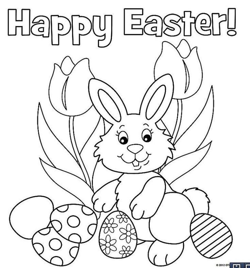 Easter Bunny Coloring Sheets Printable