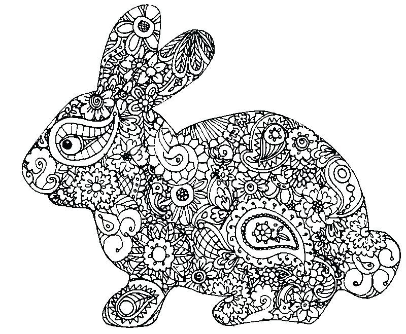 Easter Bunny Colouring Pages Free