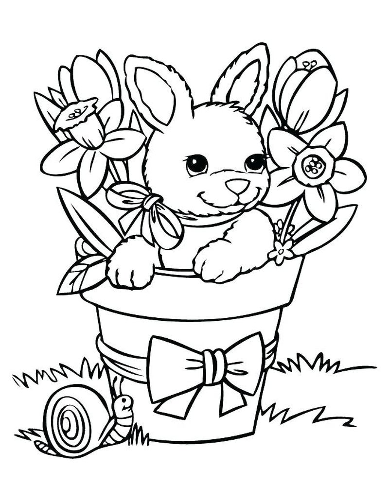 Easter Bunny Colouring Pages Online