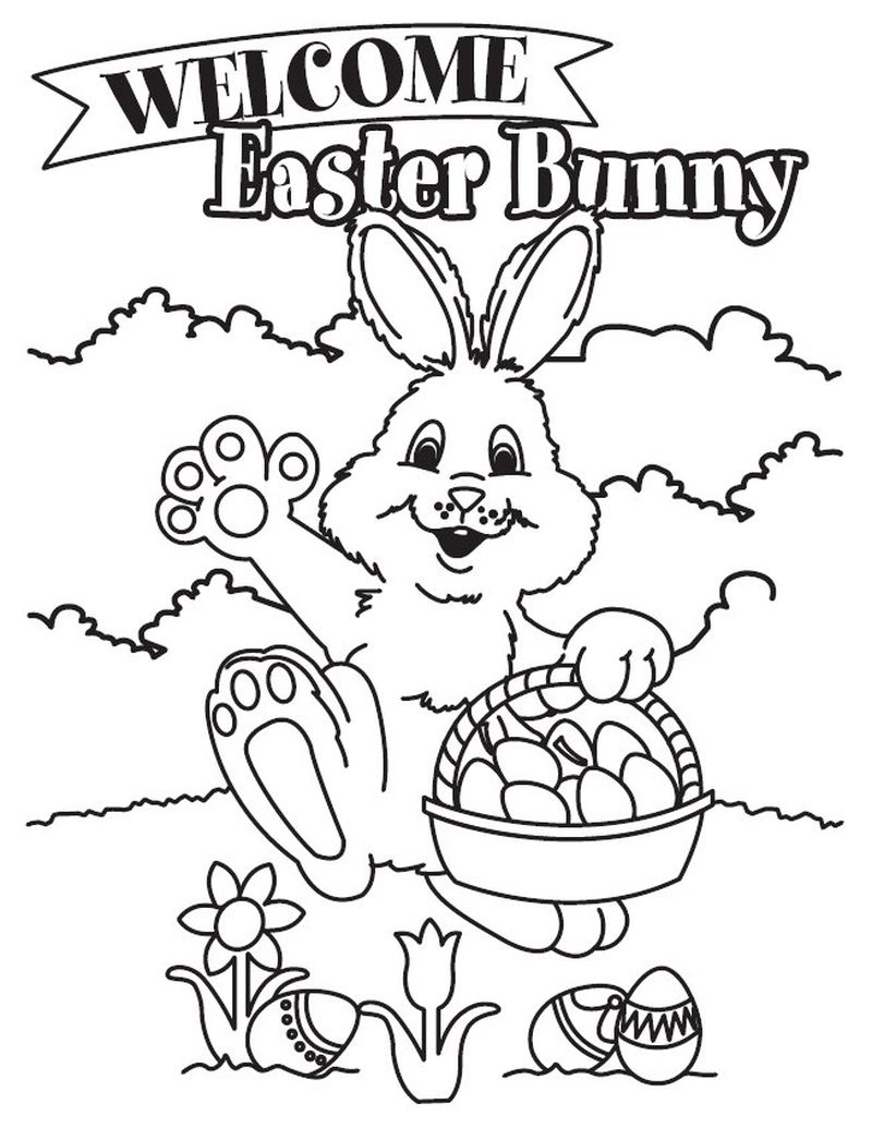 Easter Bunny Colouring Pages Pdf