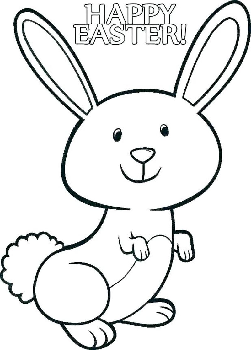 Easter Bunny Colouring Pages Printable
