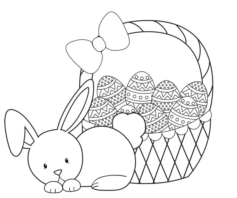 Easter Bunny Face Coloring Pages To Print