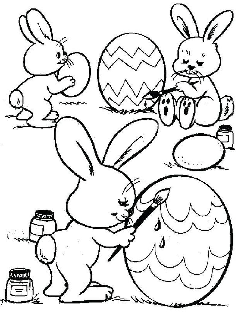 Easter Bunny Face Coloring Pages