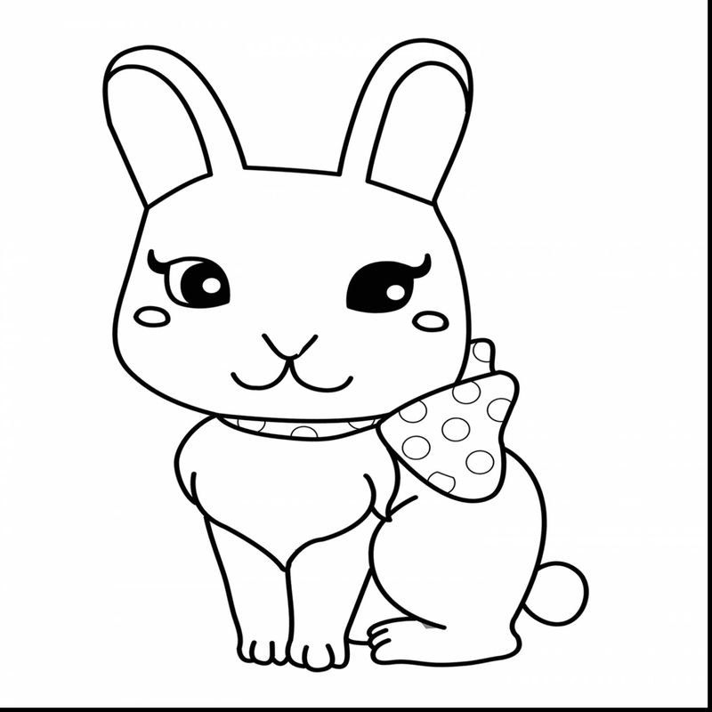 Easter Bunny House Coloring Page