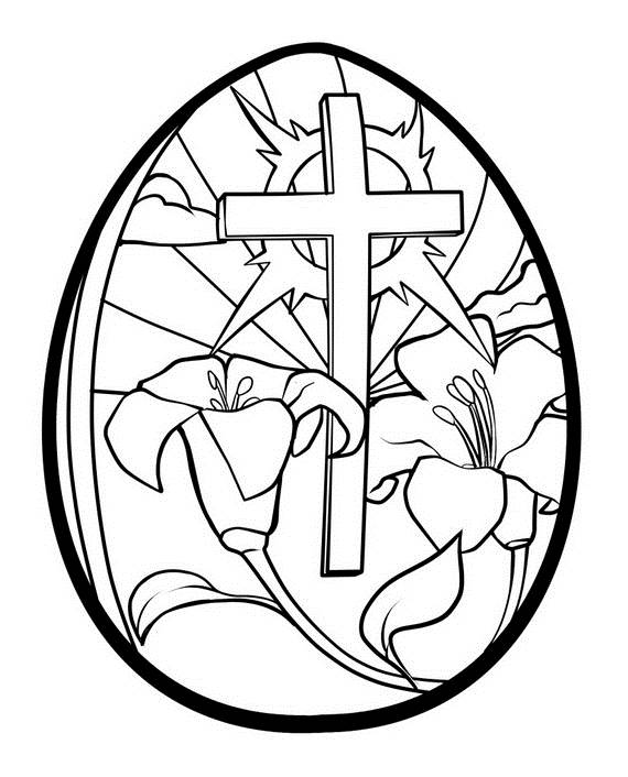 Easter Coloring Pages Christian Easter Egg