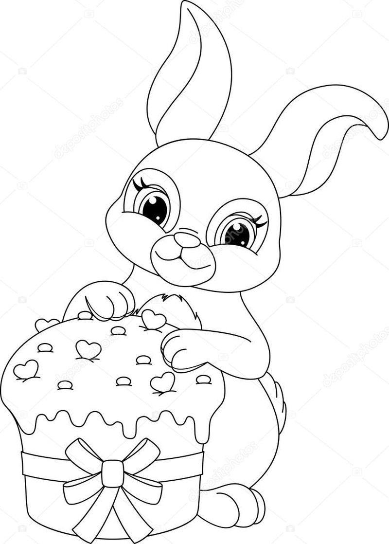 Easter Coloring Pages Of Bunny