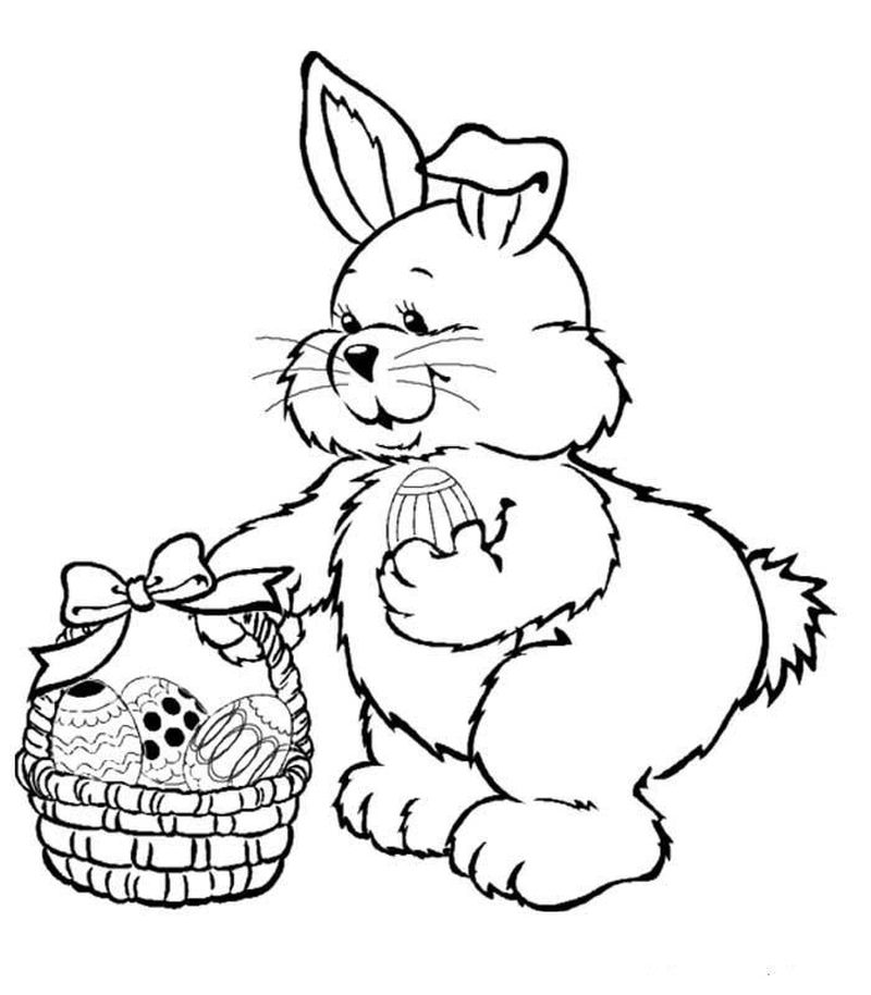 Easter Rabbit Coloring Pages Free
