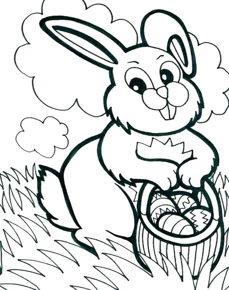 Easter Rabbit Coloring Pages