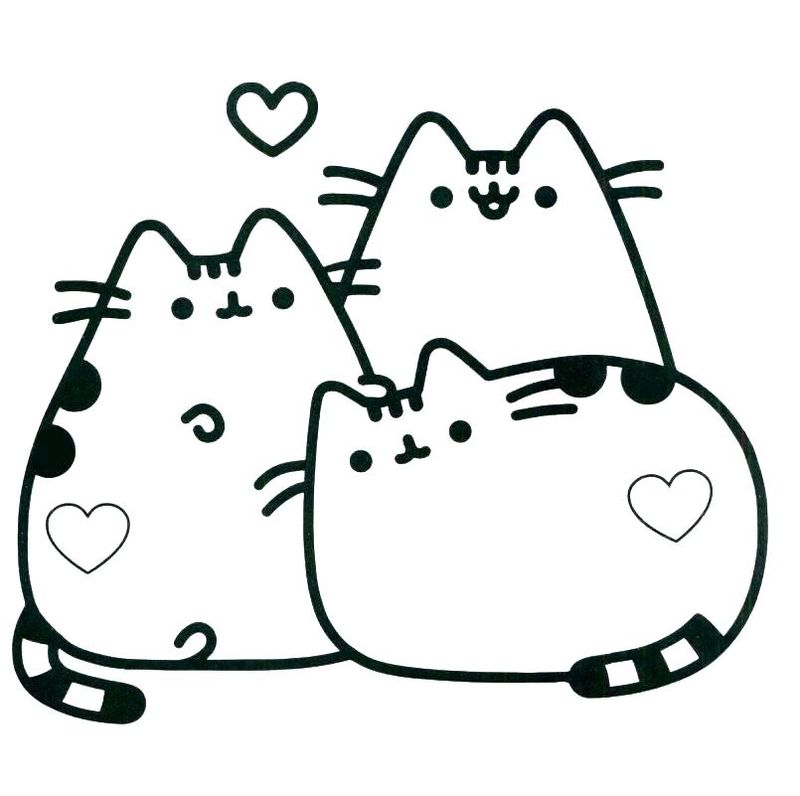 Easy Coloring Pages Of Cats