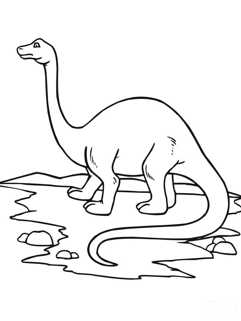 Easy Dinosaur Coloring Pages