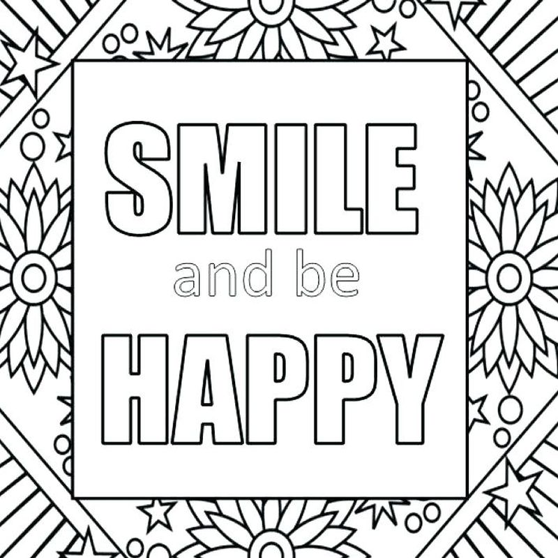 Easy Quote Coloring Pages
