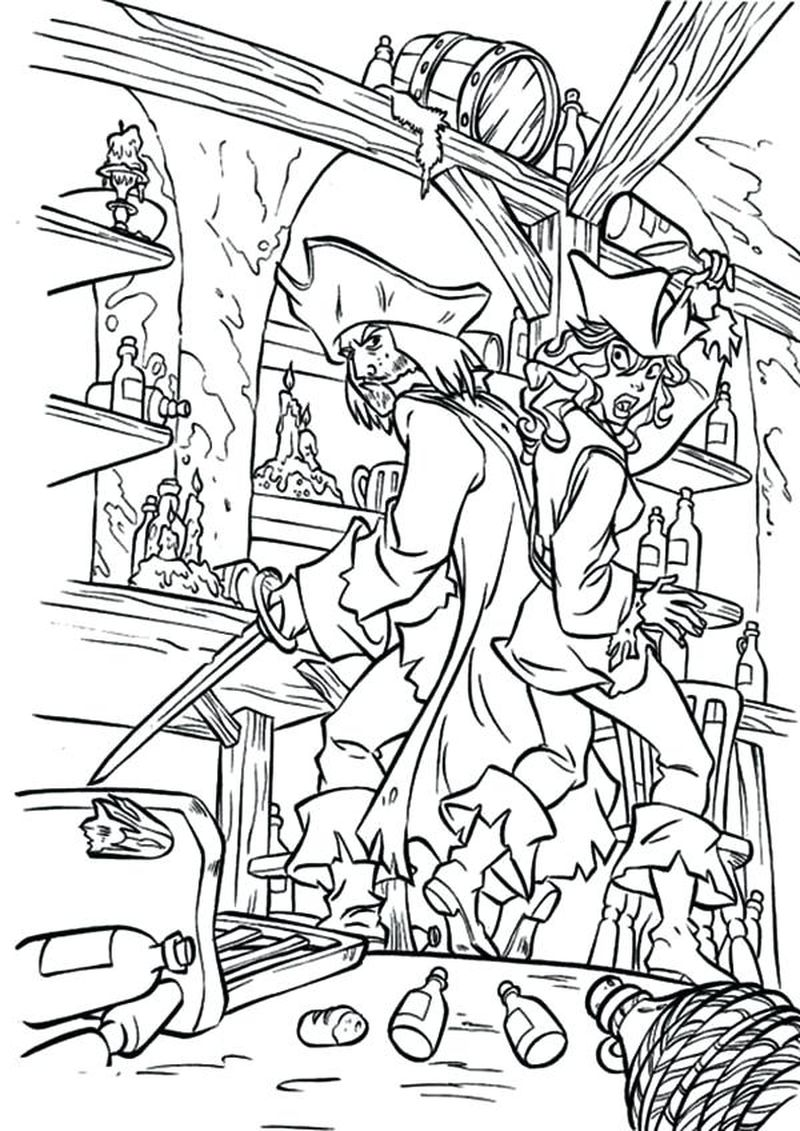 Educational Pirate Coloring Pages