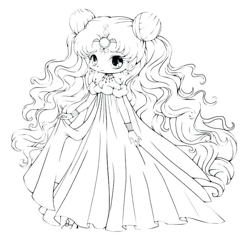 Elf Anime Girl Coloring Pages