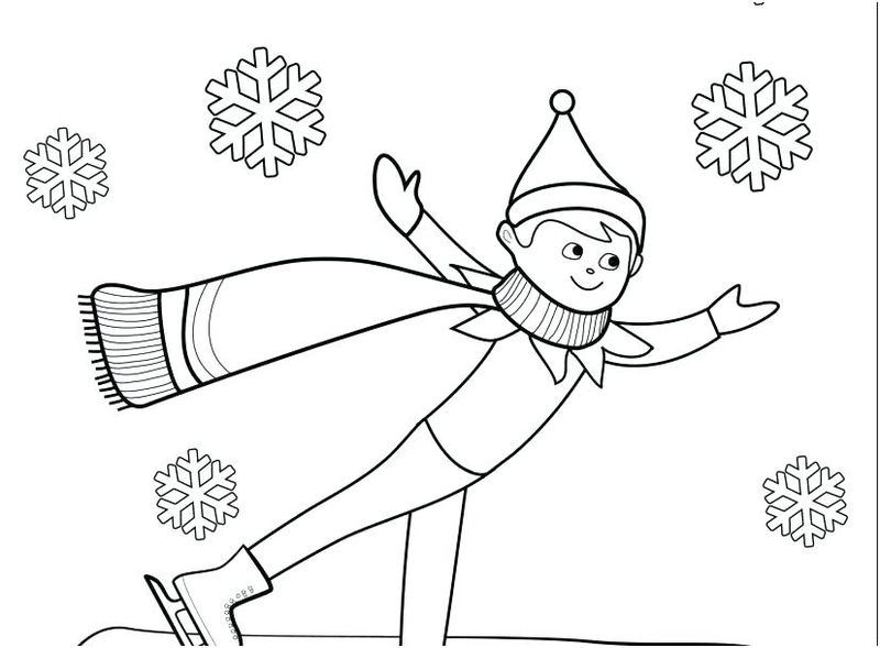 Elf Coloring Pages For Preschool
