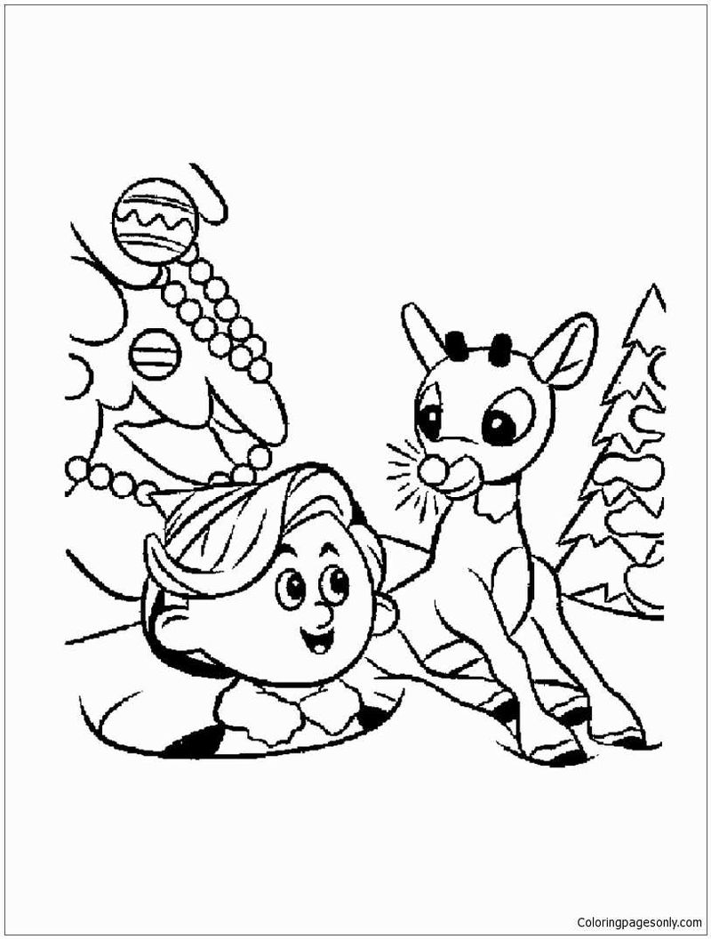 Elf Coloring Pages Free