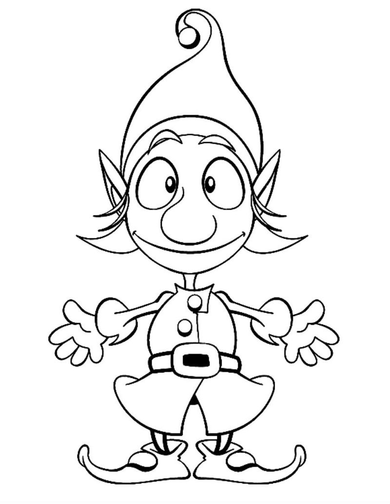 Elf Coloring Pages Girl