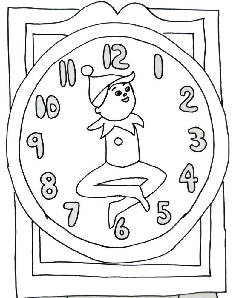 Elf Colouring Pages Printable