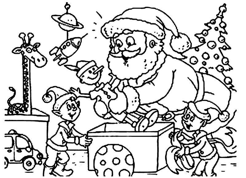 Elf Colouring Pages To Print