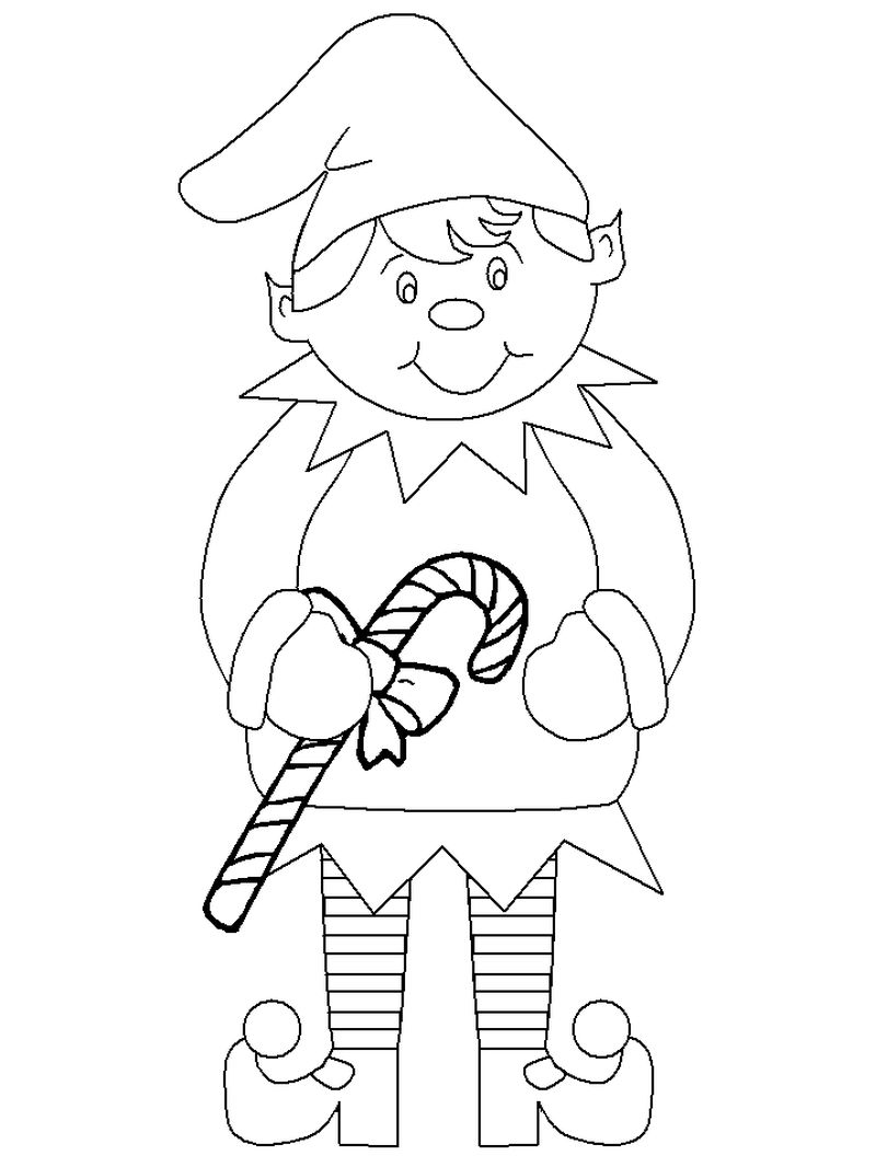 Elf In The Shelf Coloring Pages
