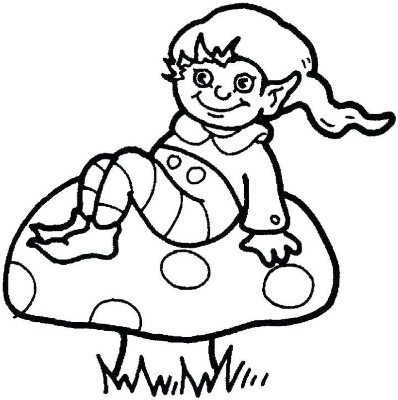 Elf Legs Coloring Pages