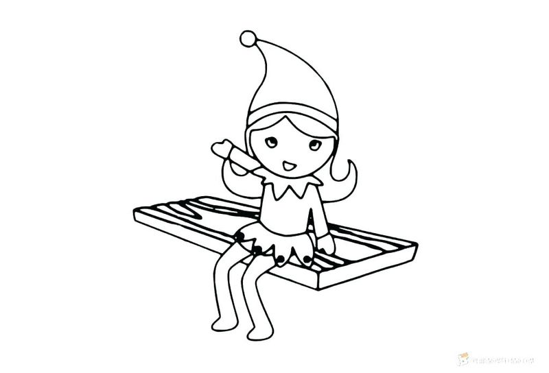 Elf On A Shelf Coloring Pages Free