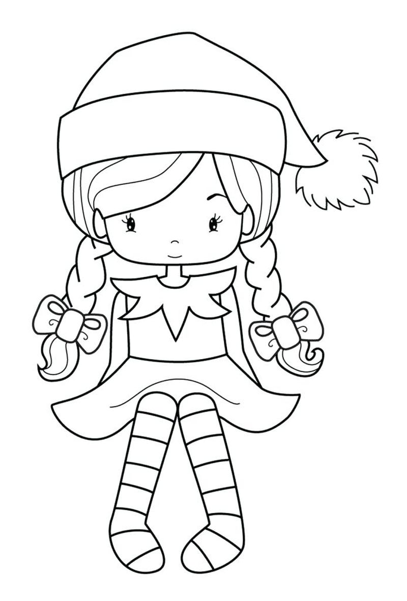 Elf On The Shelf Coloring Pages Countdown