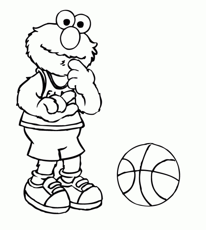 Elmo Coloring Page For Toddlers