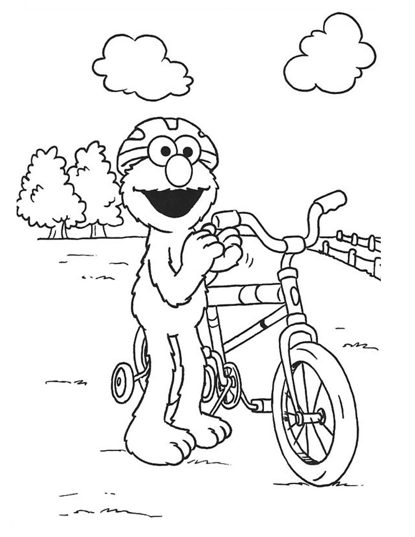Elmo Coloring Page Momjunction