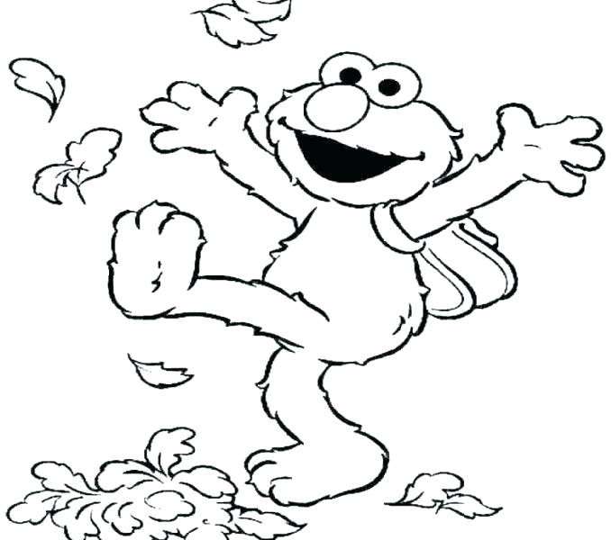 Elmo Coloring Pages At Home