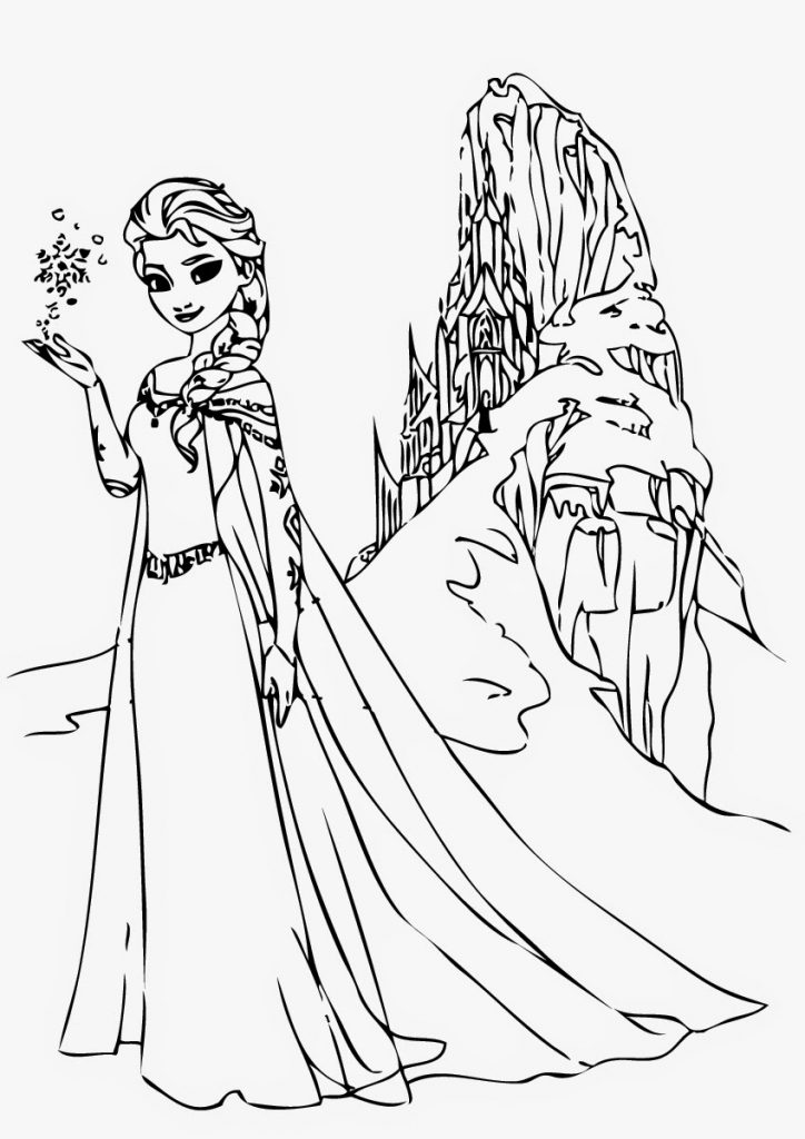 Elsa And Anna Hugging Coloring Pages