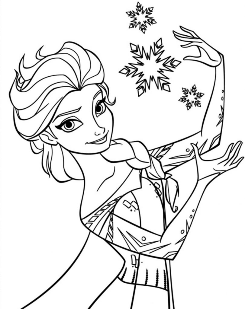 Elsa Anna Coloring Pages Free